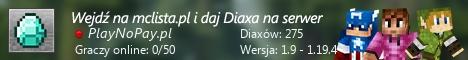 Szeroki baner serwera Wersja: 1.17.1 IP: PlayNoPay.pl