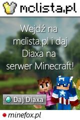 Duży baner serwera Wersja: 1.8.x - 1.17.x IP: minefox.pl