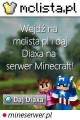 Duży baner serwera Wersja: 1.8.x - 1.17.x IP: mineserwer.pl