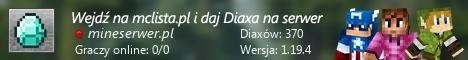Szeroki baner serwera Wersja: 1.8.x - 1.17.x IP: mineserwer.pl