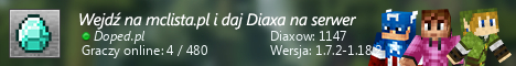Szeroki baner serwera Wersja: 1.14-1.17.1 IP: Doped.pl