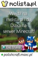 Duży baner serwera Wersja: 1.8.8 IP: polishcraft.maxc.pl