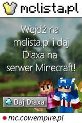 Duży baner serwera Wersja: 1.17.1 IP: mc.cowempire.pl