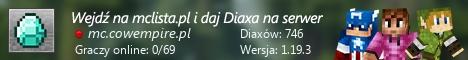 Szeroki baner serwera Wersja: 1.17.1 IP: mc.cowempire.pl