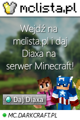 Duży baner serwera Wersja: Nierozp. IP: MC.DARKCRAFT.PL