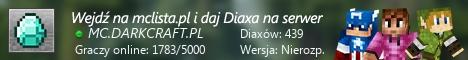 Szeroki baner serwera Wersja: Nierozp. IP: MC.DARKCRAFT.PL